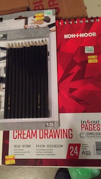 Sketch pad and pencils 244 mi