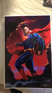Super man painting