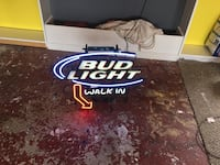 white and blue Bud Light neon signage Gaithersburg, 20877