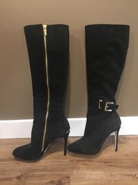 Michael kors boots black suede high boots size 7.5. Worn once Burnaby, V3N