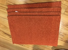Red/Orange cloth placemat - set of 4 - excellent condition