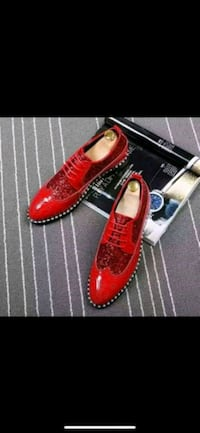 pair of red leather loafers Nevada