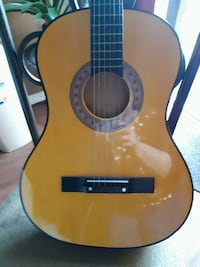 brown and black dreadnought acoustic guitar The Colony, 75056