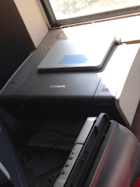 White and black lexmark printer