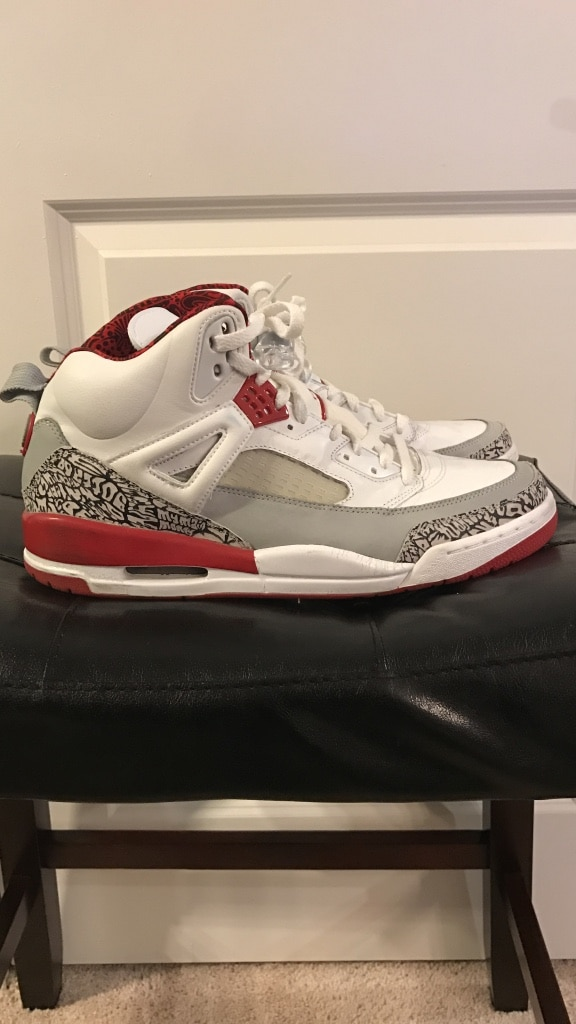 buy online 41691 9a1dd ... 2007 nike air jordan spizike white fire red cement cool grey black  315371 164 size