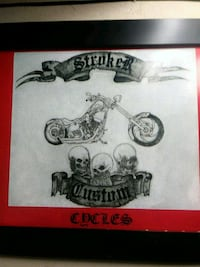 Logo design paint airbrushing on bike Edmonton