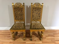 2 Antique Chairs. Gold Plated. Very Unique. Only asking $340 for both Toronto, M9C