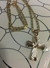 Small Cross Pendant With Chain Necklace