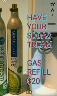 I refill your empty soda strem canister. $20 each  New City