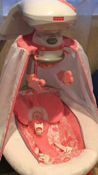 pink and white fisher-price cradle 'n swing Bridgeport, 06604