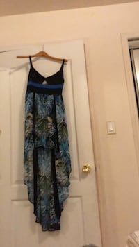 women's blue and black floral sleeveless dress New York, 11361