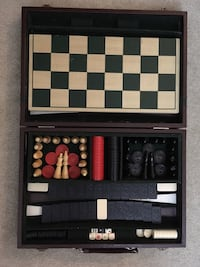 Chess/checker board and brief case Chantilly, 20151
