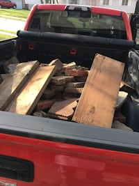 Truck bed of misc. cement pavers