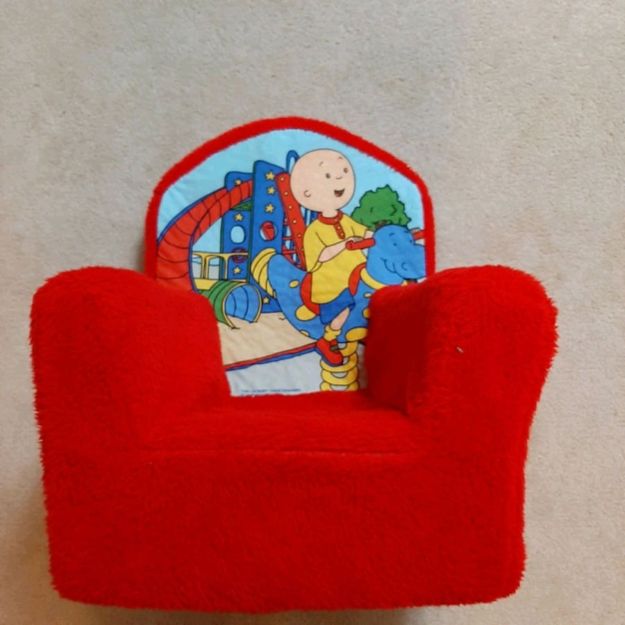 Children's Caillou foam chair with removable/washable cover