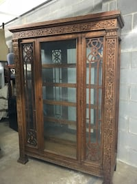"China Cabinet with glass shelves. 48"" x 15.5"" x 68"". Pick up in Chantilly Purcellville, 20132"