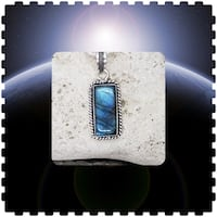 925 Sterling Silver Natural Labradorite Pendant & Chain! Burlington, L7L 7J4