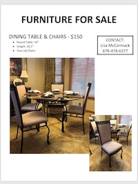 black wooden dining table set Duluth, 30096