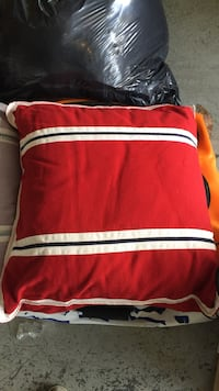 Red white oversized throw pillow excellent condition