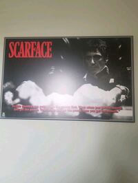 Scarface Plaque Poster Vaughan