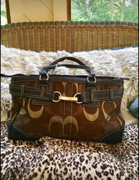 COACH BAG COPPER BROWN GOLD GLITTER Blaine, 55449