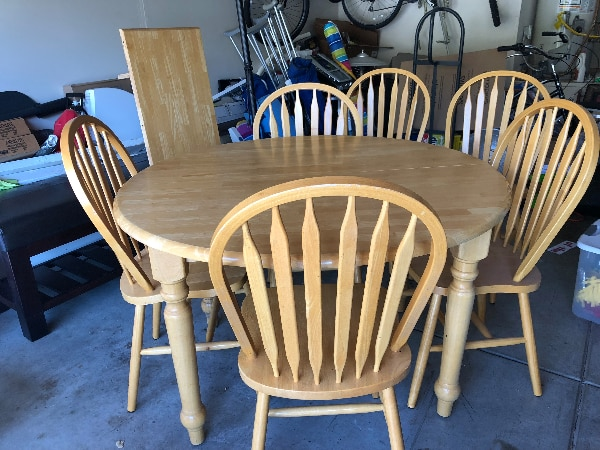 Used Solid Oak Dining Table 6 Chairs For Sale In San Jose Letgo
