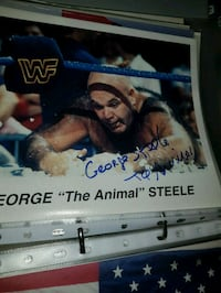 Glossy bilde av WWE george the animal steele Oslo kommune, 0986