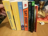 eight assorted titled books