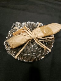 Small Turkey Bowl for Cheese Ball with Spreader