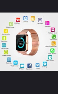New smart watch works with iPhone Samsung lg htc bnib with stainless steel band  Toronto, M9L 2K2