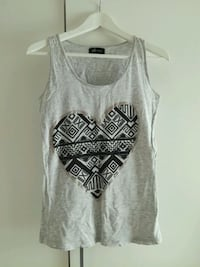 Grey shirt with aztec heart
