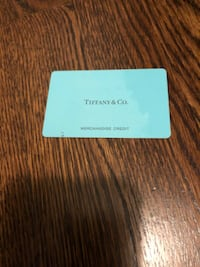 tiffany and co gift card gotss 200$ on it  CALGARY