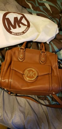 authentic micheal kors leather bag