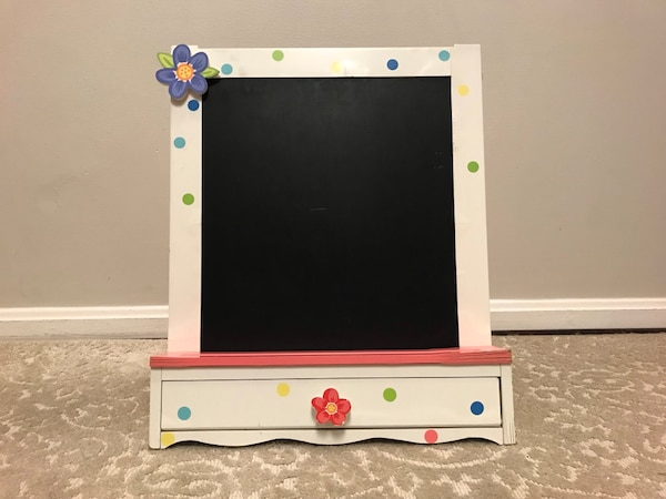 Art Easel Easel Two-Sided Whiteboard&Chalkboard with brush boxes