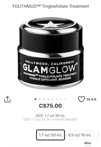 BNIB Glamglow youthmud tinglexfoliate treatment mask. Retails $85 after taxes at Sephora. Pu at Kipling and highway 7 Woodbridge  Vaughan, L4L 1Z2