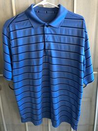 blue and black striped polo shirt Irvine, 92604