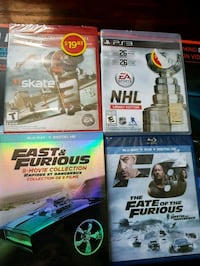 Fast and furious  blue ray digital hd and ps3 game Toronto, M3J 1B9
