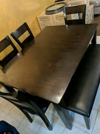 Chocolate dining table set