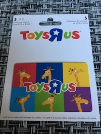 Toysrus card  Barrie, L4M 6P3