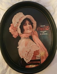 Coca cola tray with woman print