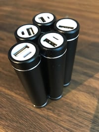5 USB Battery Packs (uses 18650 sized batteries) Reston, 20190