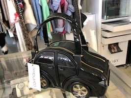 Braccialini unique car shaped purse