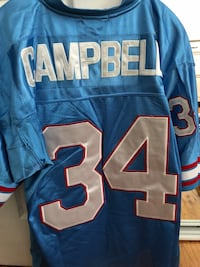 Earl Campbell Houston Oilers NFL jersey New York, 10306