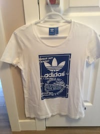 White and Blue Adidas T-shirt
