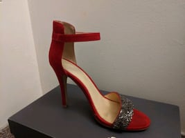 Red High Heels size 7