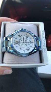 round silver chronograph watch with link bracelet Richmond, 23223