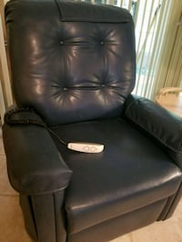 black leather recliner sofa chair 743 mi