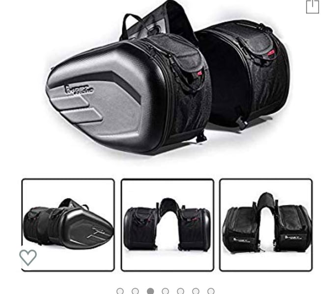 Motorcycle Saddle Bag Waterproof Side Bag, 36L-58L Expandable... bf72ffab-dd21-4d52-a706-7cd21eb4924a