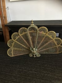 Antique brass fireplace screen Collingwood, L9Y