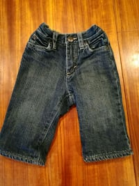 Old.navy jeans red fleece lined 6-12 months