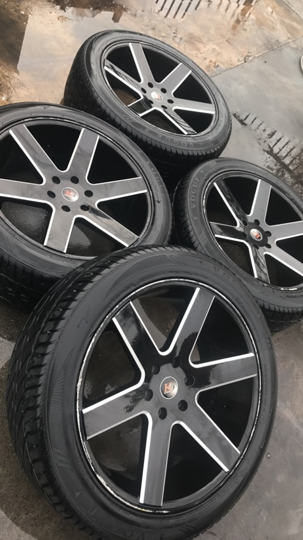 Used K9 22 Inch Wheels And Vogue Tires For Sale For Sale In